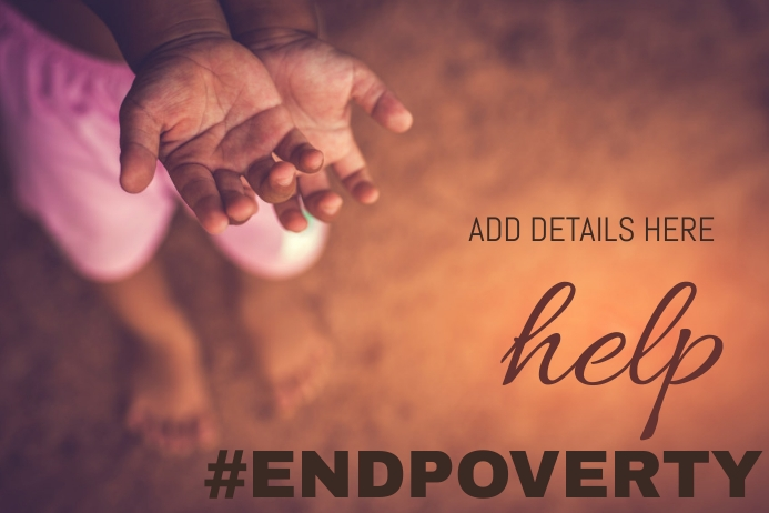 Poverty Eradication Day Template Poster