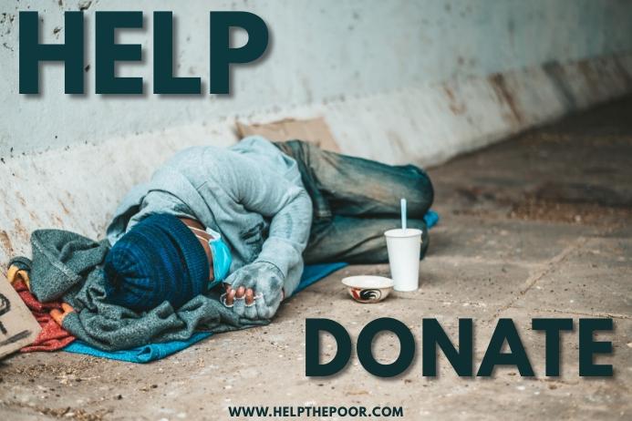 Poverty Eradication Template Spanduk 4' × 6'