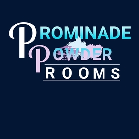 POWDER ROOM LOGO โลโก้ template