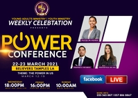 POWER CONFERENCE Poskaart template