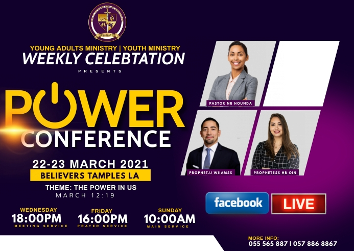POWER CONFERENCE Postal template