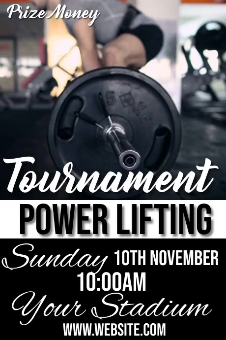Power lifting Poster template