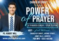 Power of prayer Kartu Pos template