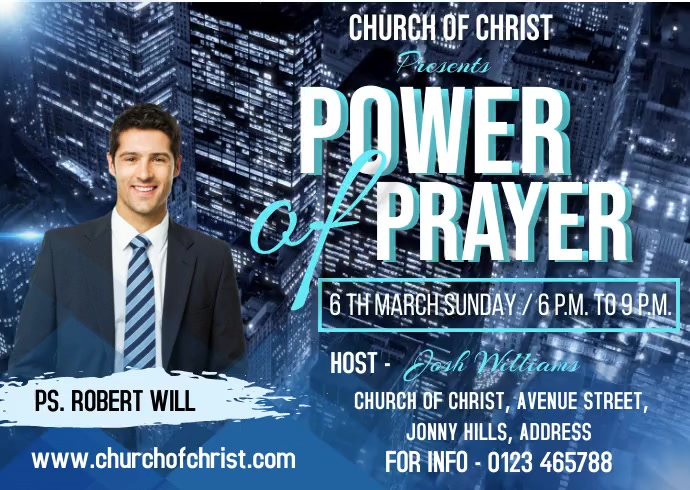 Power of prayer Postal template