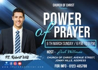 Power of prayer Postcard template