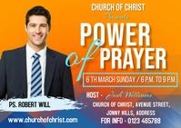 Power of prayer Postkort template
