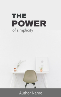 Power of simplicity book cover Kindle/Book Covers template