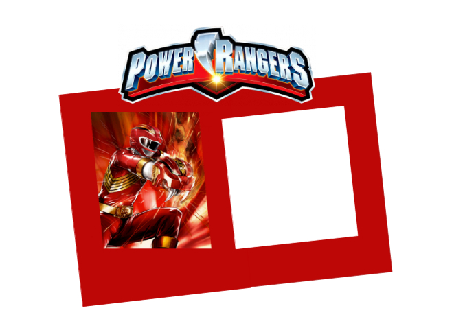 power rangers party prop frame template