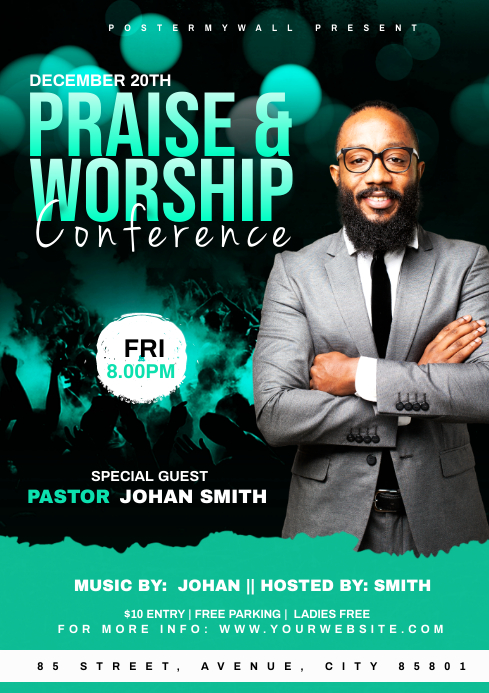 Praise & Worship Conference template A4