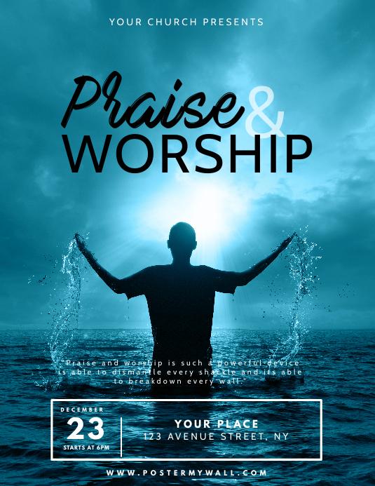 Praise & Worship Event Flyer Design Template