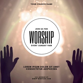 Praise & Worship Event Video Template Instagram na Post