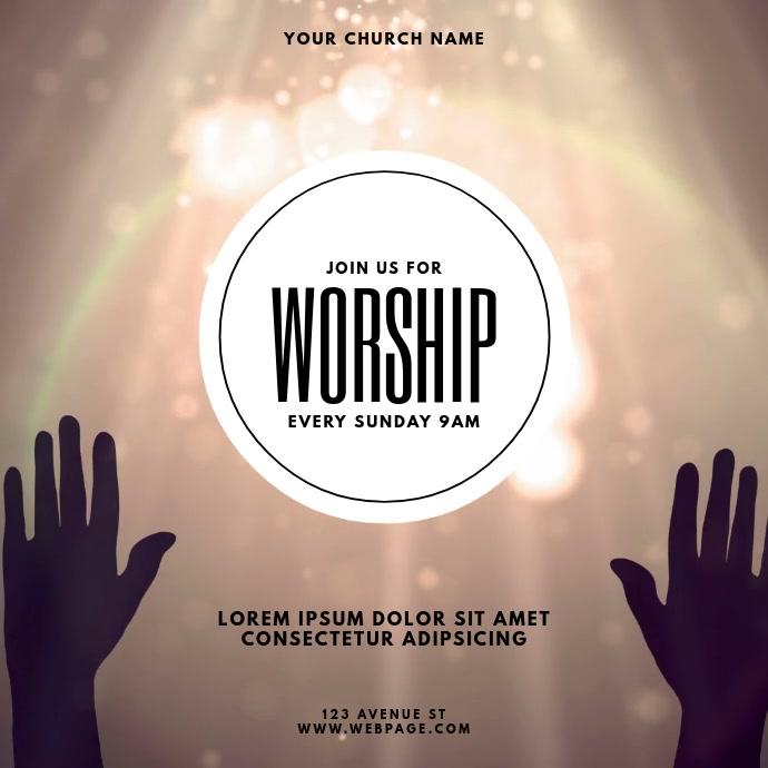 Praise & Worship Event Video Template