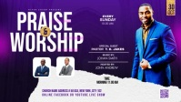 Praise & Worship template วิดีโอหน้าปก Facebook (16:9)