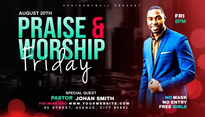 Praise & Worship template นามบัตร
