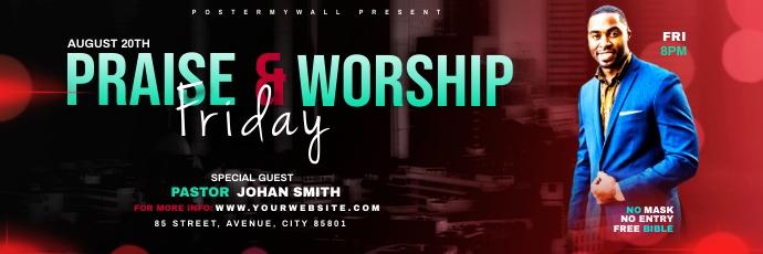 Praise & Worship template Encabezado de Twitter