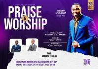 Praise & Worship template Carte postale
