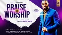 Praise & Worship template Vídeo de capa do Facebook (16:9)