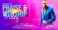 Praise & Worship template Facebook Ad