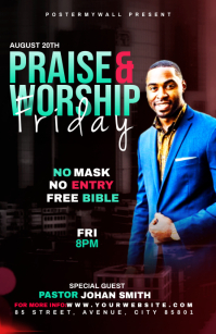 Praise & Worship template Half Page Wide