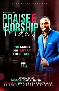 Praise & Worship template Tablóide
