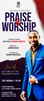 Praise & Worship template Rack Card