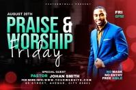 Praise & Worship template Banier 4'×6'