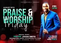 Praise & Worship template Poskaart