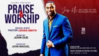 Praise & Worship template Facebook Cover Video (16:9)