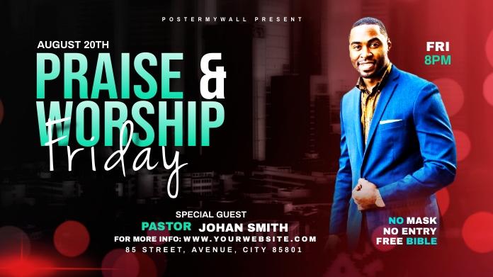 Praise & Worship template โพสต์บน Twitter