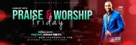 Praise & Worship template Banner 2' × 6'
