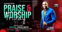 Praise & Worship template Portada de evento de Facebook