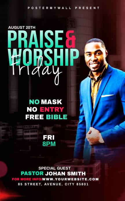 Praise & Worship template Portada de Kindle