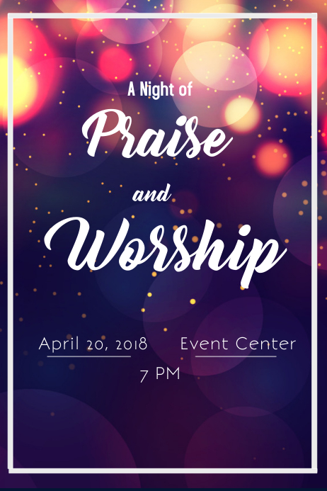 Praise and Worship Poster template