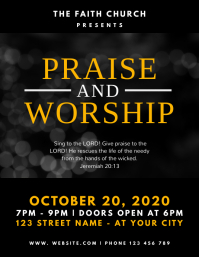 Praise and Worship Church Flyer template