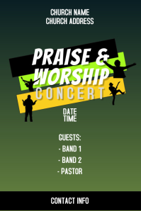 PRAISE AND WORSHIP CONCERT BANNER