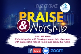 PRAISE AND WORSHIP Cartaz template