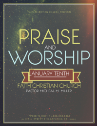 Praise And Worship  Christian Flyer Templates