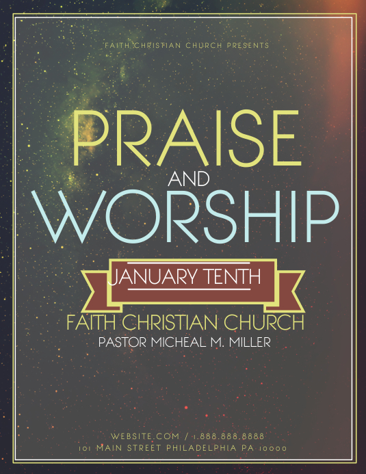 graphic about Free Printable Flyers for Church named Personalize 5,860+ Church Templates PosterMyWall