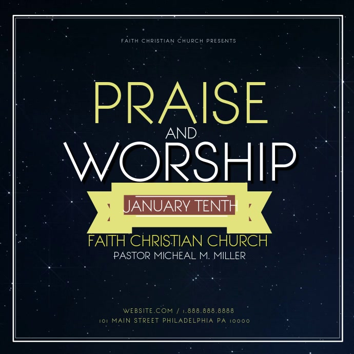Praise and worship Pos Instagram template