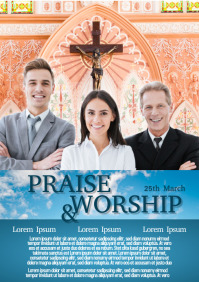 Praise and Worship Flyer Template