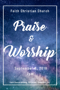 Praise and Worship Poster