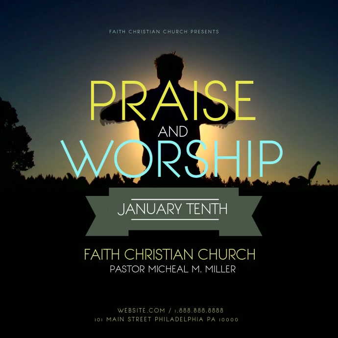 Praise and worship Message Instagram template