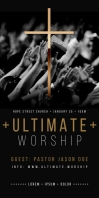 PRAISE AND WORSHIP ROLL UP BANNER template