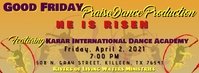 Praise Dance Show Facebook Cover Photo template