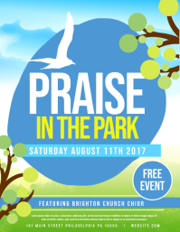 Praise in the park Flyer (US Letter) template