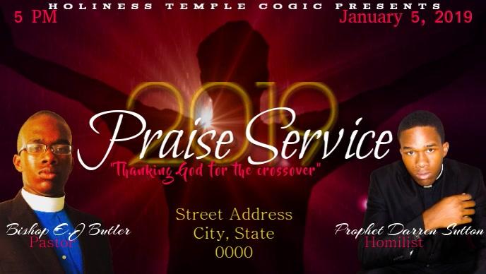 Praise Service Flyer
