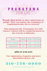 Pranayama Meditation Poster/Flyer template