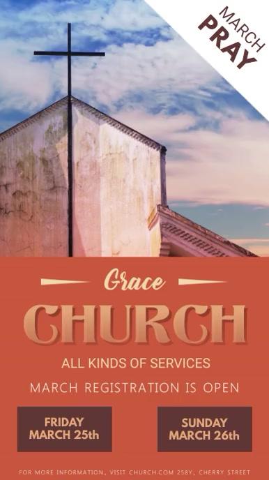 Pray and Worship Church Event Digital Display Video