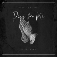 Pray for me - Music Album Cover Template