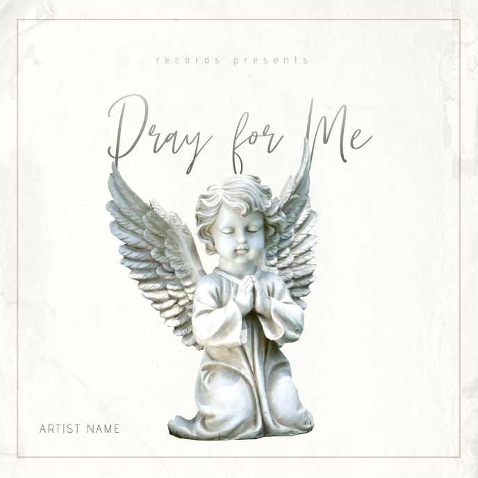 Pray for me - Music Album Cover Template Albumcover